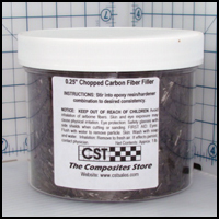 Chopped Carbon Fiber Filler, 0.25 long, 1+ lb.