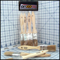 West System 1 in. Bristle Brushes, 4/pkg.