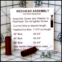 TEKOA Red Head Hot Wire Retainers, 2/pkg.